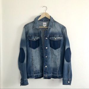 Kensie jean denim jacket blue size small